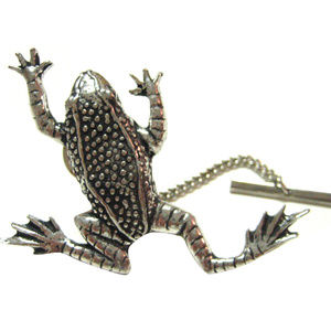 Leaping Toad Frog Tie Tack